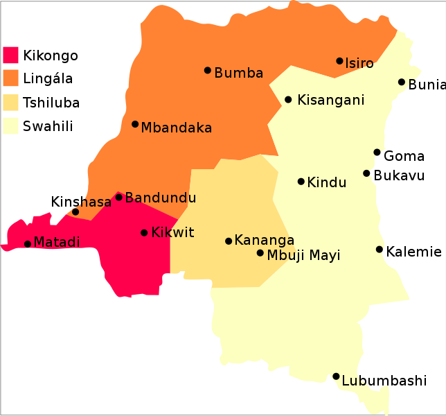 Is linguala the most spoken language in DRC?   CONGOLESE