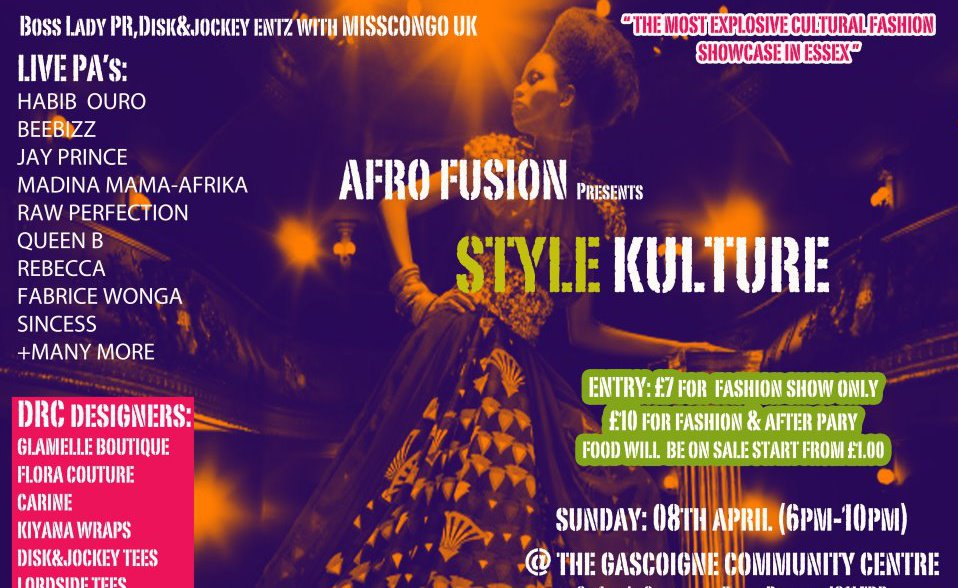 Bosslady pr with miss congo uk presents afro fusion for Afro fusion cuisine