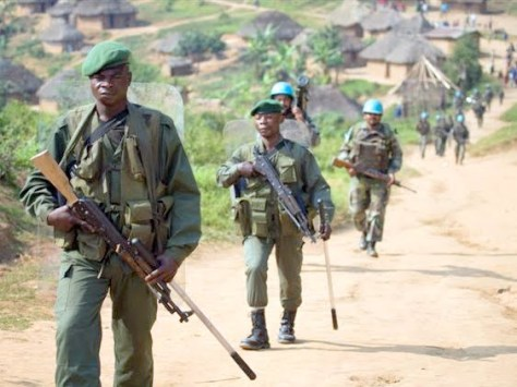 MONUC (Indian Contingent) and FARDC patrolling Mbwavinya.