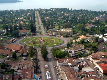 Vue de la ville de Goma.