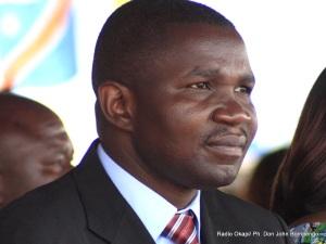Julien Paluku le 8/3/2012 à Goma. Radio Okapi/ Ph. John Bompengo