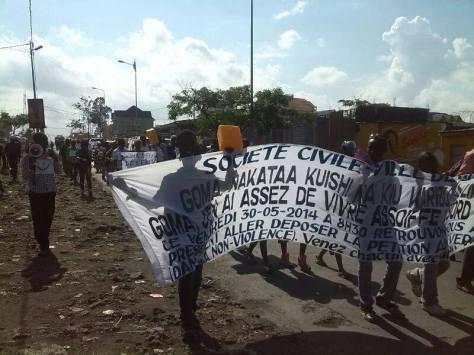 Marche a Goma, image: La Lucha RD Congo