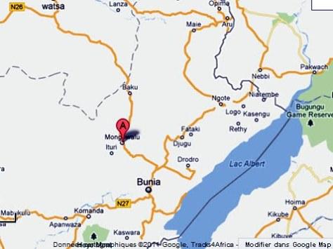 Le territoire de Mongbwalu dans la Province Orientale