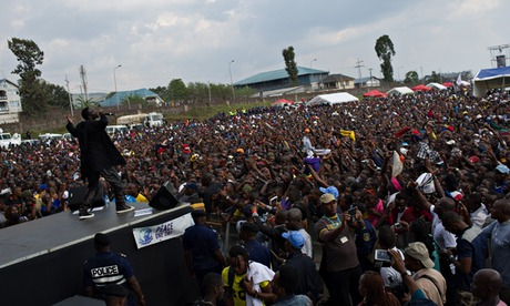 MDG : Peace One Day in Goma, DRC : Akon performs at a concert