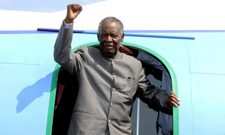 Michael Sata left Zambia for medical treatment on 19 October. Photograph: AFP/Getty Images