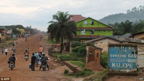 Beni (pictured) on the Ugandan border
