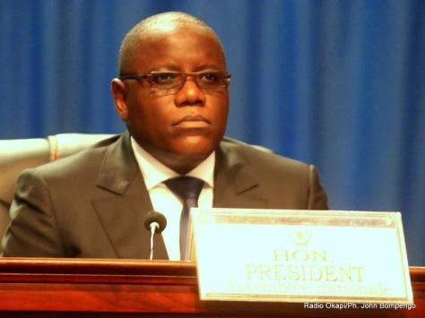 Le président de l'Assemblée nationale congolaise, Aubin Minaku le 15/03/2014