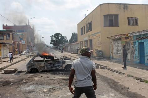 Kinshasa congo Protestor