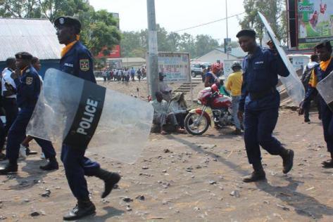 Police in Goma