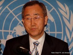 Ban Ki-moon, secrétaire général de l'Onu.Radio Okapi/ Ph. John Bompengo