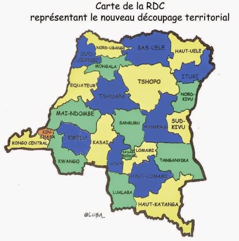 Nouvelle carte RD Congo