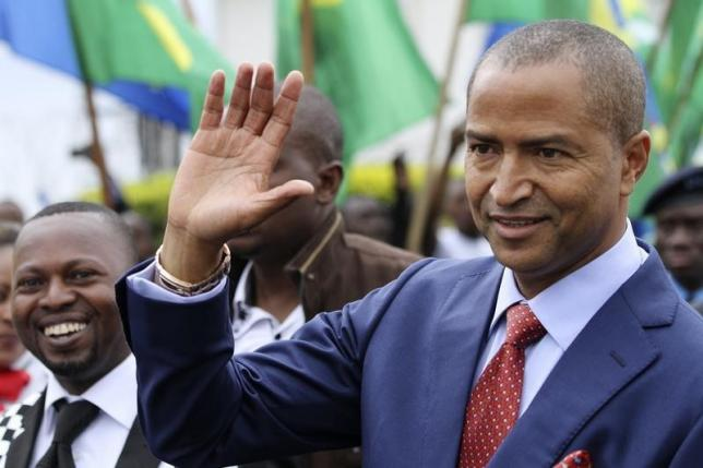 Moise Katumbi, governor of Democratic Republic of Congo's mineral-rich Katanga province, arrives for a two-day mineral conference in Goma March 24, 2014. REUTERS/Kenny Katombe