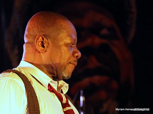 Papa Wemba lors d'un concert à la Halle de la Gombe, septembre 2010.
