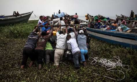 Lake Albert Congo refugees