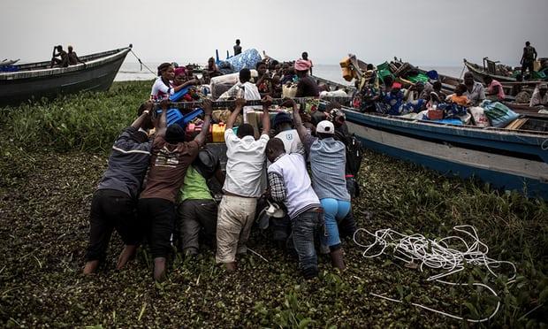 Lake Albert Congo refugees