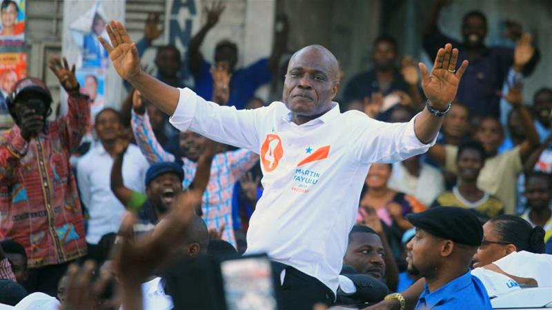 The ban came on the day opposition candidate Martin Fayulu was to hold a meeting in the city [Samuel Mambo/Reuters]