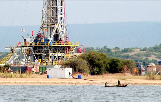 Oil production on Lake Albert.